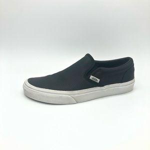 Vans Perforated Leather black slip on sneakers